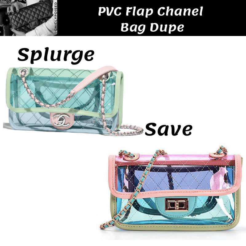 PVC Flap Chanel Bag Dupe