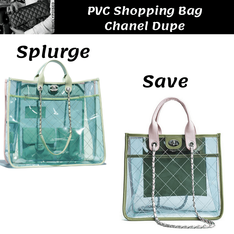 PVC Shopping Bag Chanel Dupe