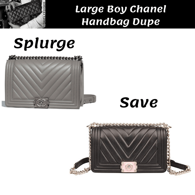 Very Large Large Boy Chanel Handbag Dupe
