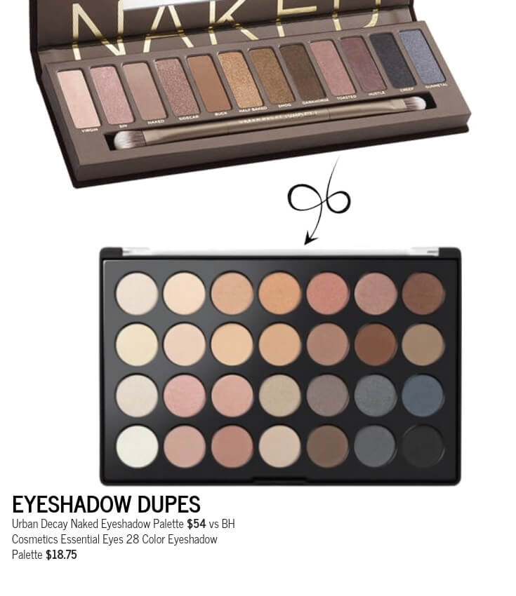 BH Cosmetics Essential Eyes 28 Color Eyeshadow Palette Dupe for Urban Decay Naked Eyeshadow Palette