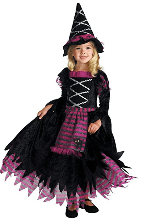 Black and Pink Witch Girls Halloween Costume