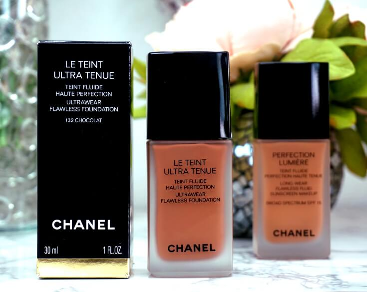 Chanel Perfection Lumiere Foundation Versus Chanel Ultrawear Flawless Foundation