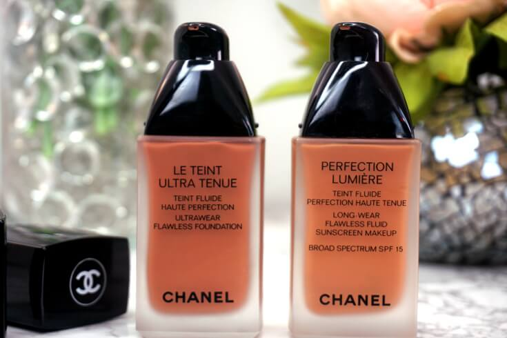 Chanel Ultrawear Flawless Foundation Versus Chanel Perfection Lumiere Foundation