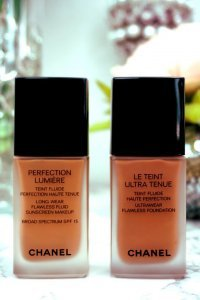 Chanel Ultrawear Flawless Foundation Vs Chanel Perfection Lumiere