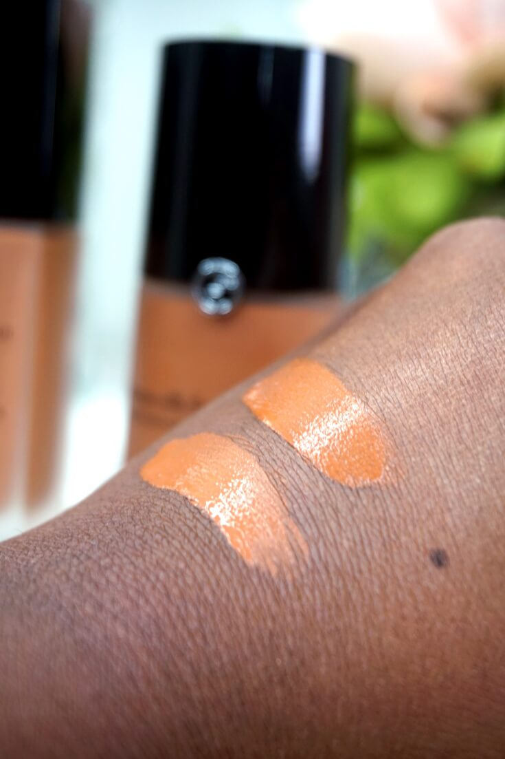 Giorgio Armani Luminous Silk Foundation Dupe Swatch
