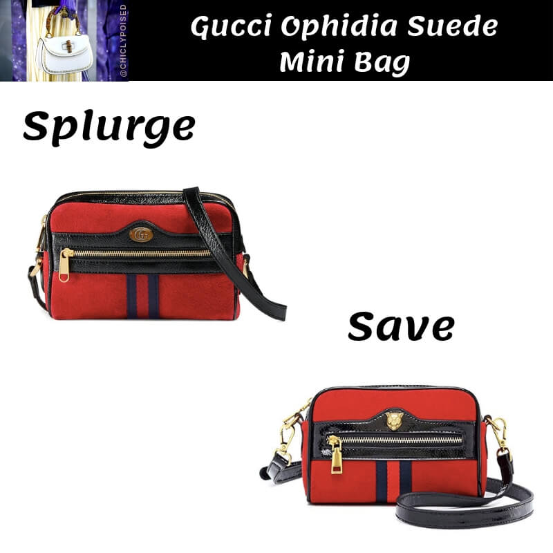 Gucci Ophidia Suede Mini Bag Dupe