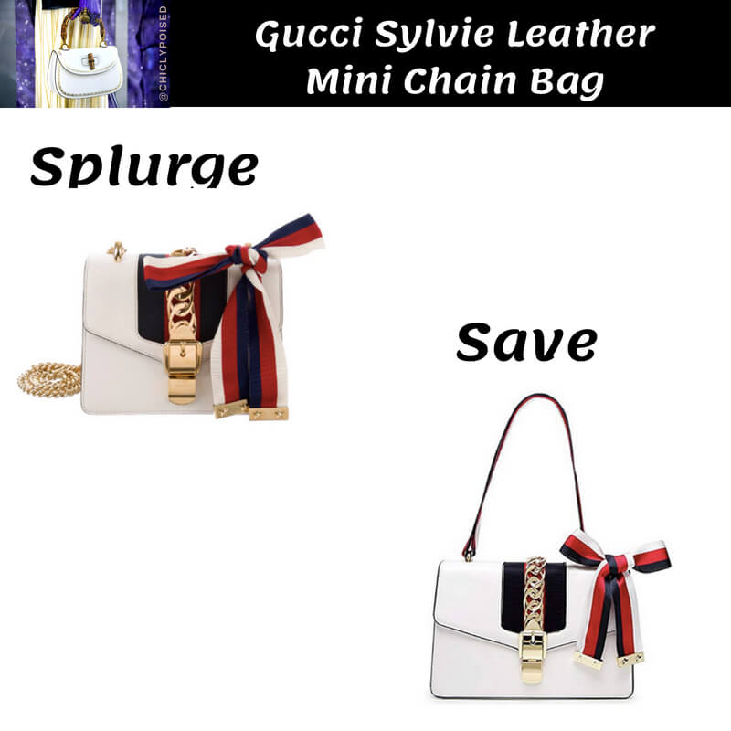 Gucci Sylvie Chain Bag Dupe