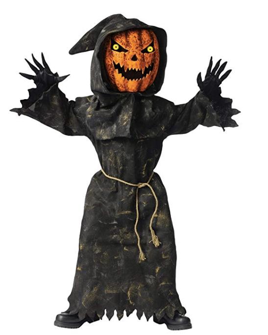 Halloween Boys Bobble Head Pumpkin Ghoul Costume