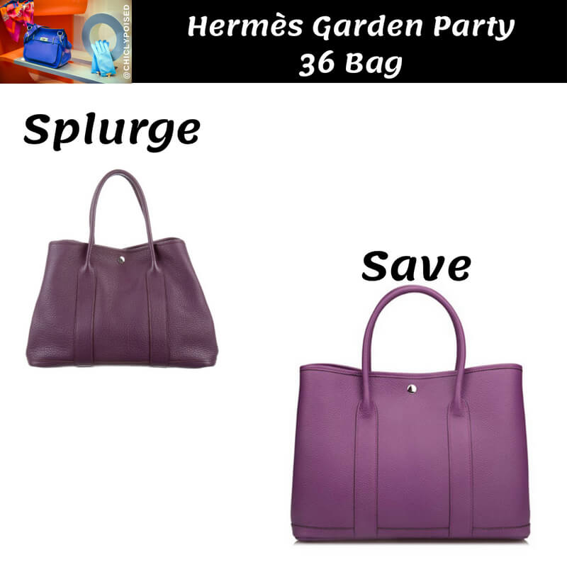 Hermes Garden Party 36 Bag Dupe