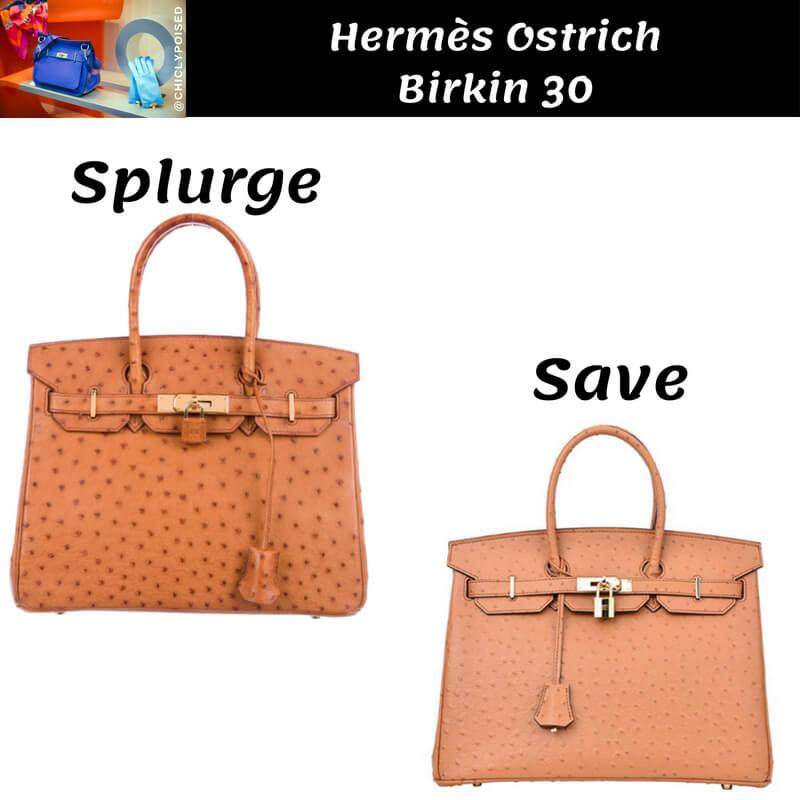 Hermes Ostrich Birkin Dupe