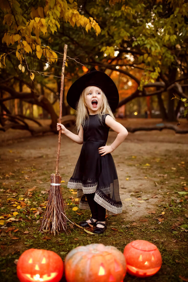Little Girls Witch Halloween Costumes