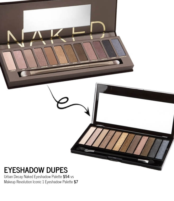 Makeup Revolution Iconic 1 Eyeshadow Palette Dupe for Urban Decay Naked Eyeshadow Palette