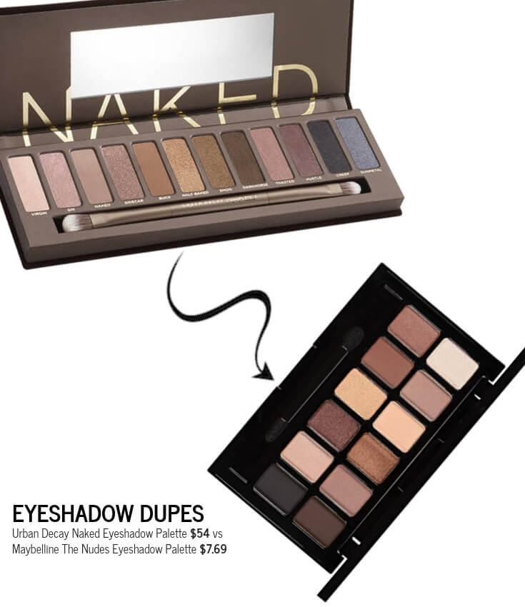 Maybelline The Nudes Eyeshadow Palette Dupe for Urban Decay Naked Eyeshadow Palette