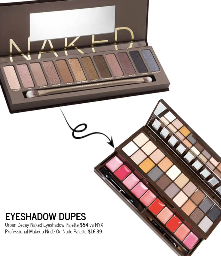 NYX Professional Makeup Nude On Nude Eyeshadow Palette Dupe for Urban Decay Naked Eyeshadow Palette