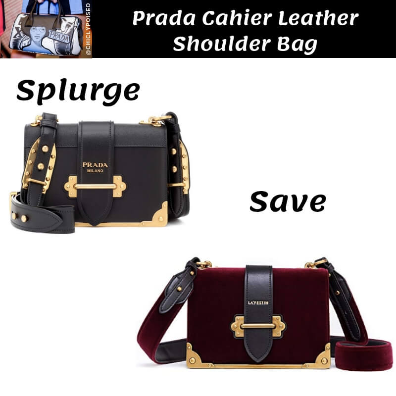Prada Cahier Leather Shoulder Bag Dupe