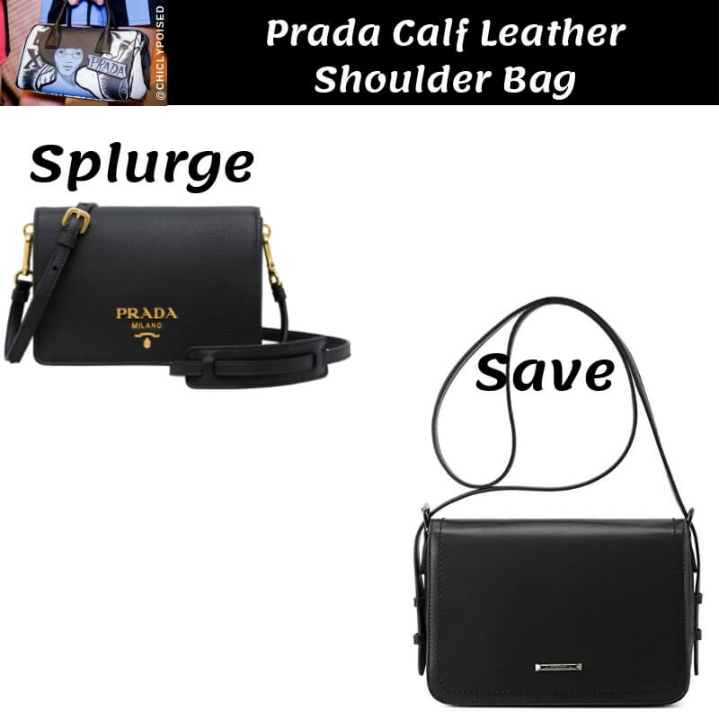 Prada Calf Leather Shoulder Bag Dupe