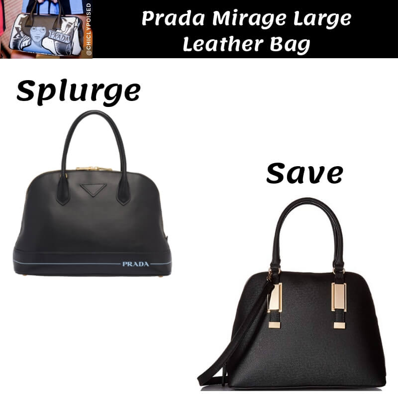 Prada Mirage Large Leather Bag Dupes