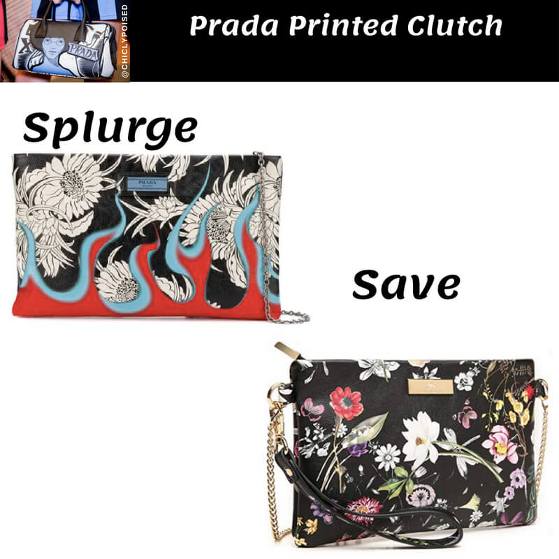 Prada Printed Clutch Dupes