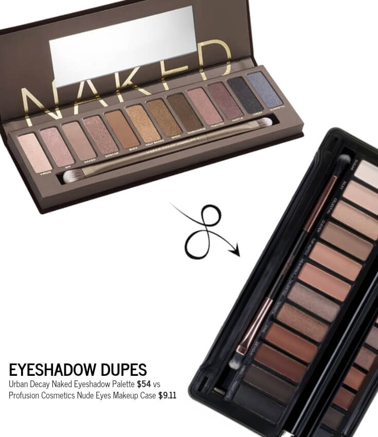 Profusion Cosmetics Nude Eyes Makeup Case Dupe for Urban Decay Naked Eyeshadow Palette