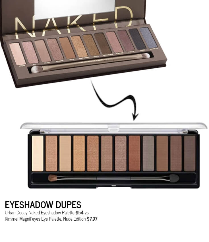 Rimmel Magnif'eyes Eye Palette Nude Edition Dupe for Urban Decay Naked Eyeshadow Palette