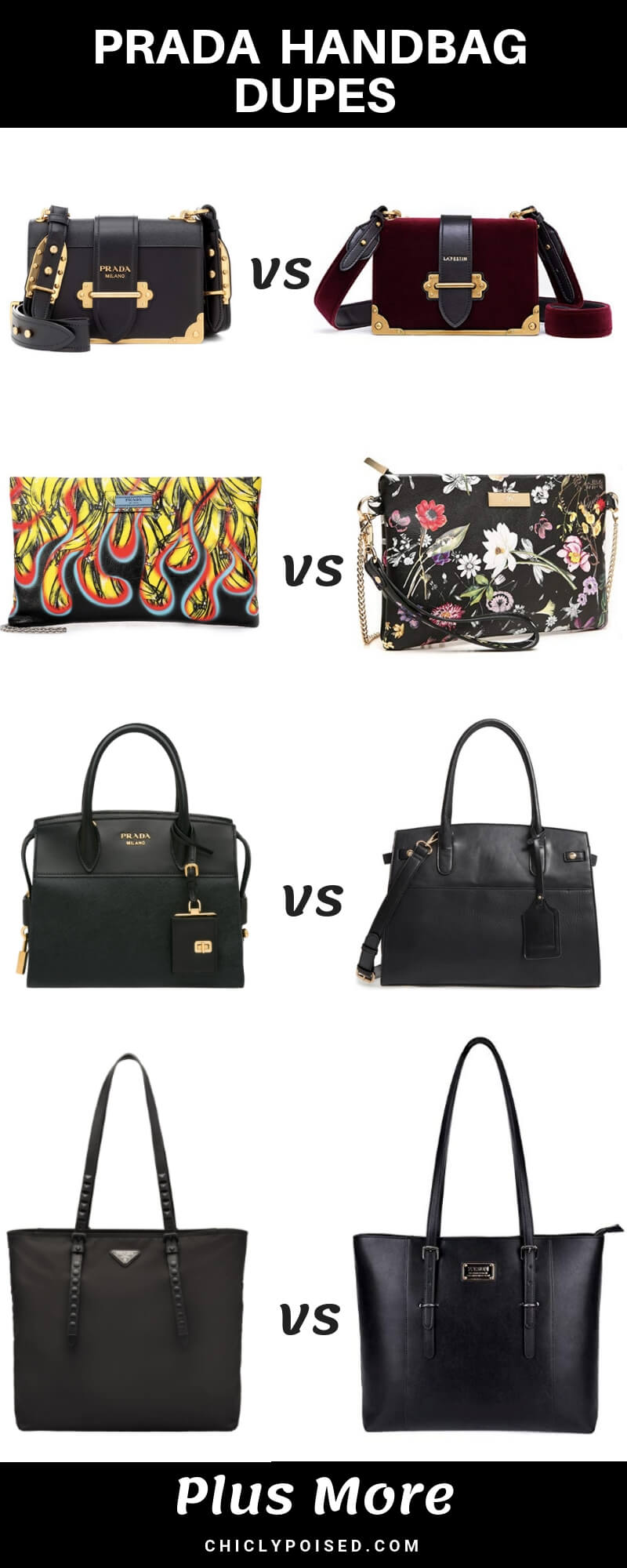 Save Money With Designer Dupes Prada Bags Dupes