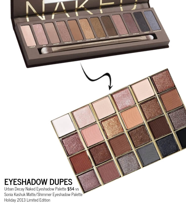 Sonia Kashuk Matte:Shimmer Eyeshadow Palette Holiday 2013 Limited Edition Dupe for Urban Decay Naked Eyeshadow Palette