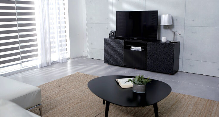 Uncluttered Chic Minimalist Living