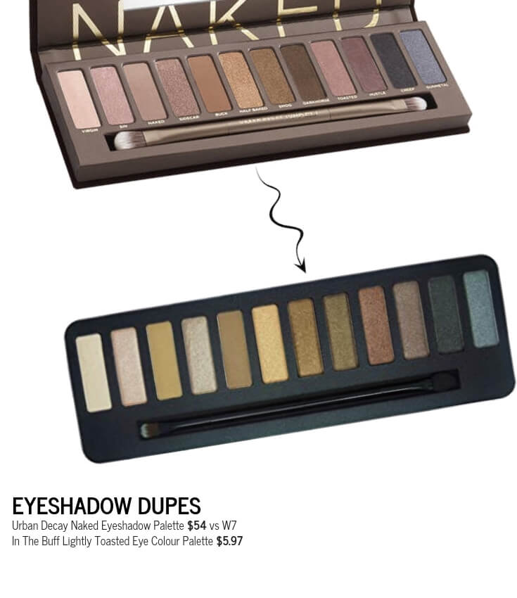 W7 In The Buff Lightly Toasted Eye Colour Palette Dupe for Urban Decay Naked Eyeshadow Palette