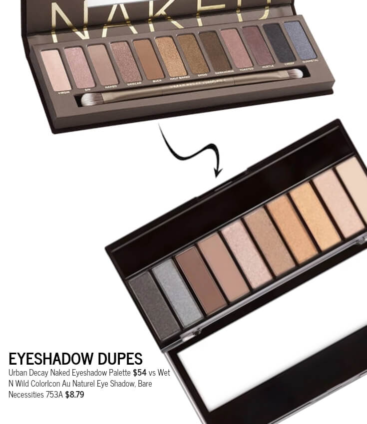 Wet N Wild ColorIcon Au Naturel Eye Shadow, Bare Necessities 753A Dupe for Urban Decay Naked Eyeshadow Palette