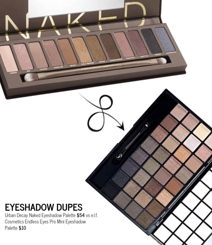 e.l.f. Cosmetics Endless Eyes Pro Mini Eyeshadow Palette Dupe for Urban Decay Naked Eyeshadow Palette