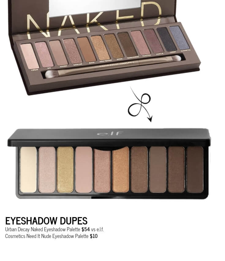 e.l.f. Cosmetics Need It Nude Eyeshadow Palette Dupe for Urban Decay Naked Eyeshadow Palette