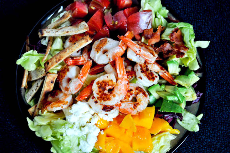 Mouth Watering Grilled Shrimp Salad
