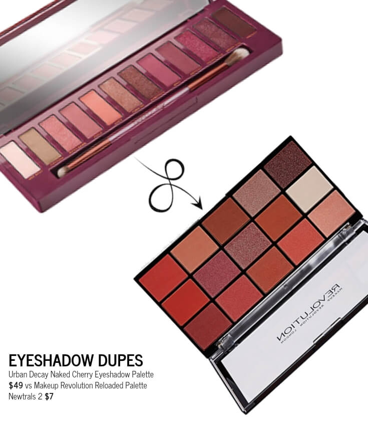 Makeup Revolution Reloaded Palette Newtrals 2 Urban Decay Eyeshadow Cherry Dupe