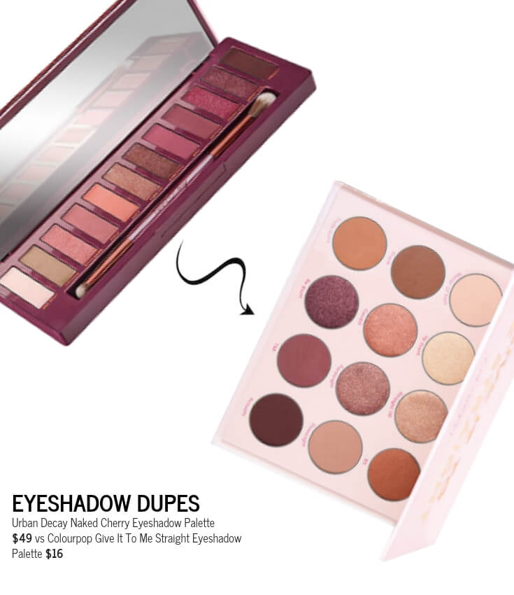 Best Urban Decay Naked Cherry Eyeshadow Palette Dupe, Colourpop Give It To Me Straight Palette
