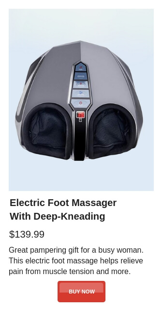 Gift Guide - Electric Foot Massager With Deep-Kneading