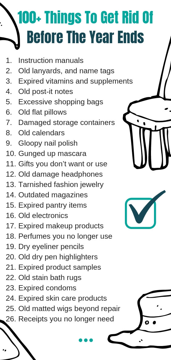 Items To Toss Out Of Your Life