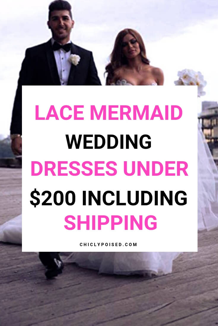 Lace Mermaid Bridal Wedding Dresses Under 200 Dollars