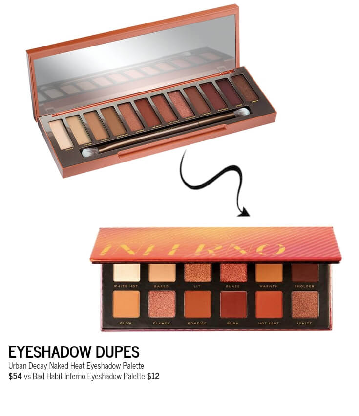 Bad Habit Inferno Eyeshadow Palette Dupe for Urban Decay Naked Heat Palette