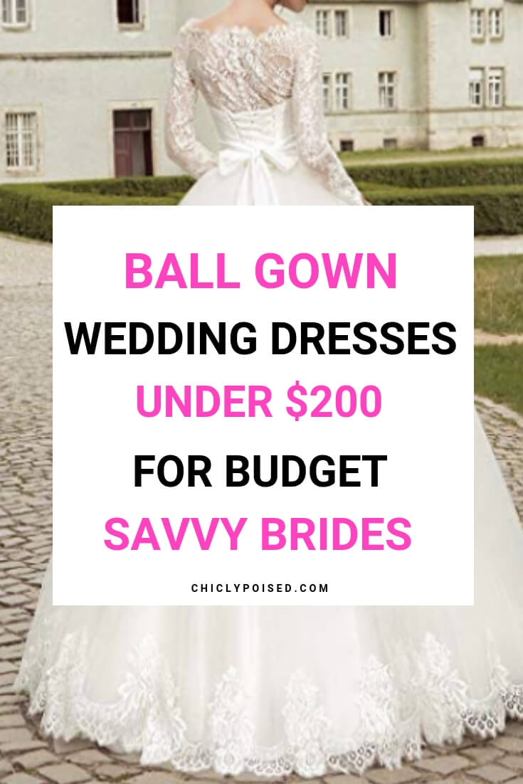 Ball Gown Wedding Dresses For Frugal Budget Savvy Brides