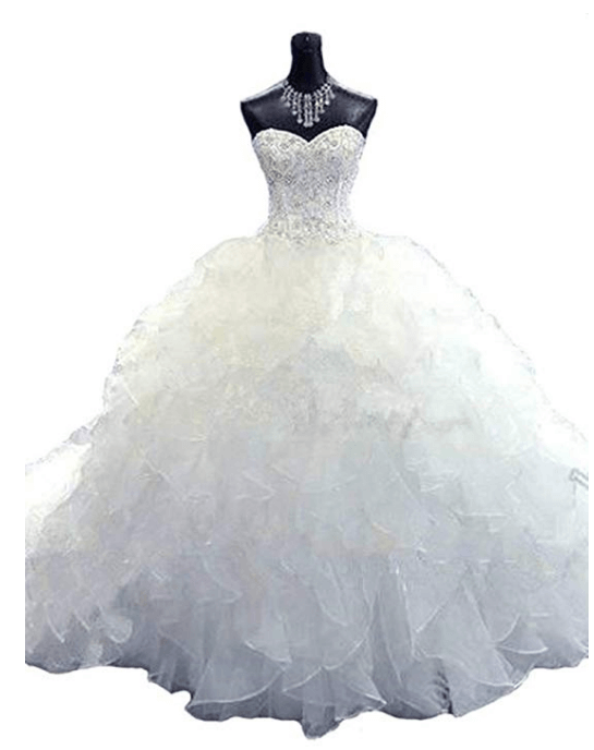 Ball Gown Wedding Dresses Under 200 Dollars-14