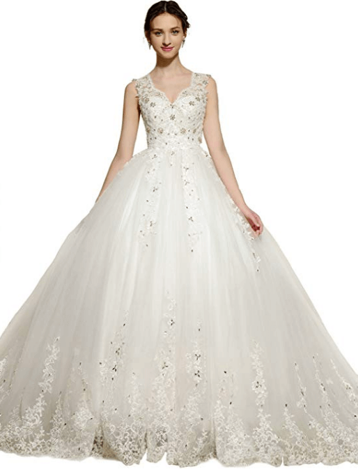 Ball Gown Wedding Dresses Under 200 Dollars-15
