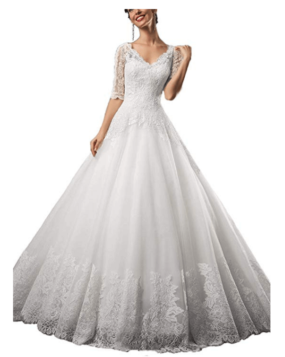 Ball Gown Wedding Dresses Under 200 Dollars-17