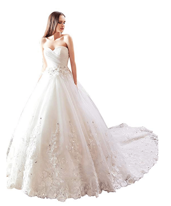 Ball Gown Wedding Dresses Under 200 Dollars-19