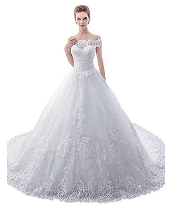Ball Gown Wedding Dresses Under 200 Dollars-21