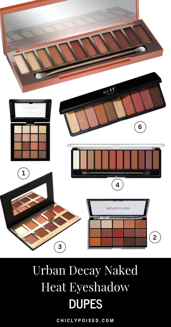 URBAN DECAY NAKED HEAT PALETTE DUPES!