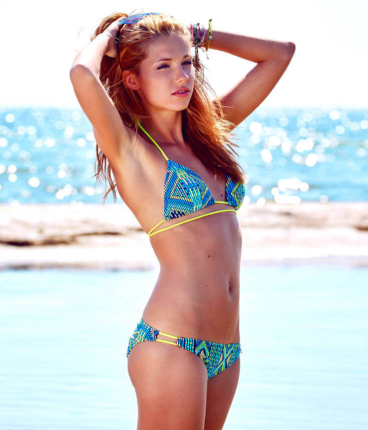 Blue and Yellow Tribal Bikini Swimwear