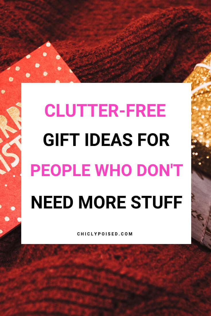 Clutter-Free Gift Ideas To Give