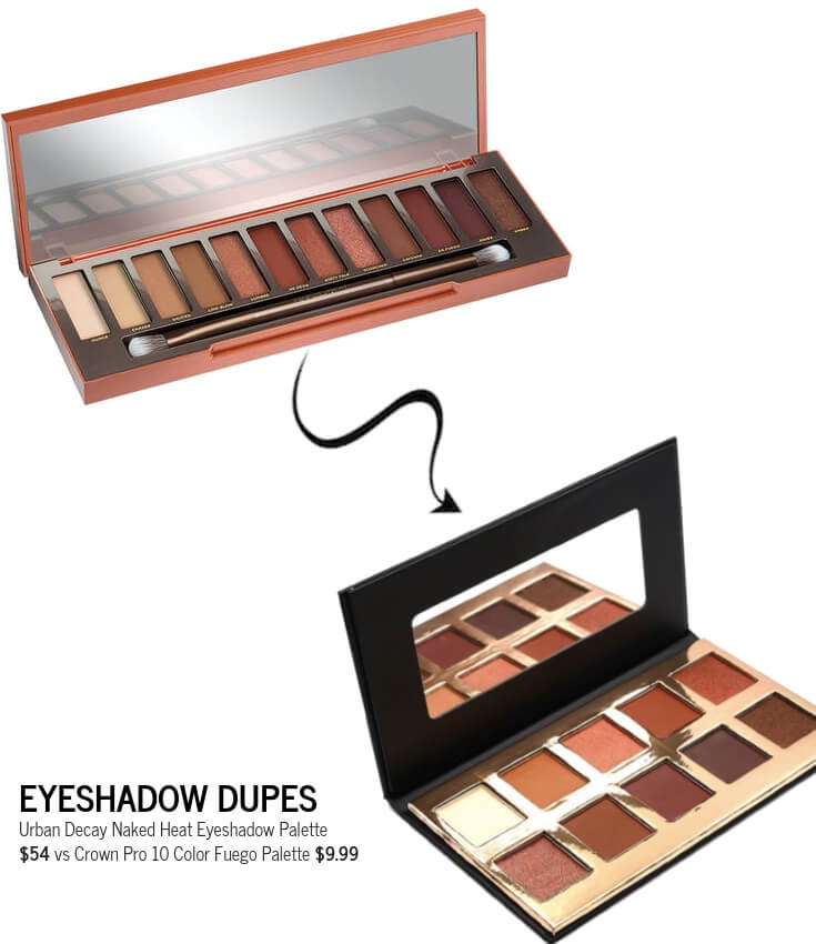 Crown Pro 10 Color Fuego Palette Dupe for Urban Decay Naked Heat Palette