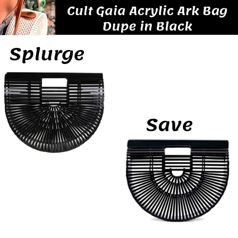 Cult Gaia Acrylic Ark Bag Dupe in Black