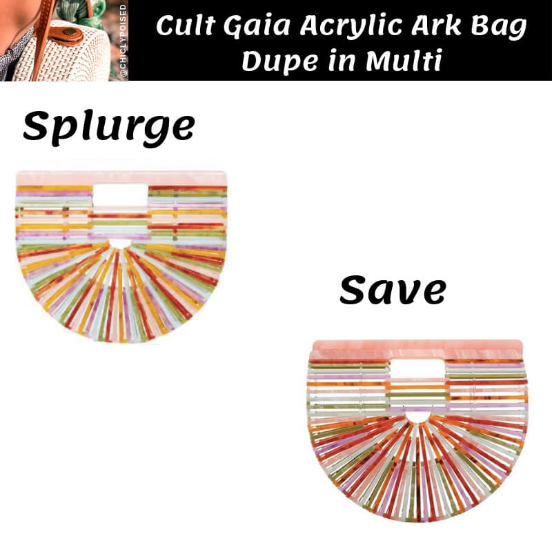 Cult Gaia Acrylic Ark Bag Dupe in Multi